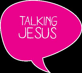 Talking Jesus logo magenta